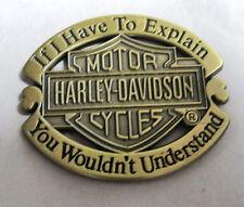 Metal Pin Badge USA Biker Sportster FatBoy Cruiser Bobber Chopper - Understand