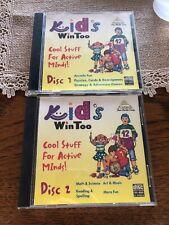 Kids Win Too Disc 1 & 2 Educational Kids Children's Games Software Windows