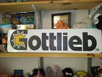 "Gottlieb Sign, 6"" x 24"" Gottlieb Pinball Aluminum Display!"