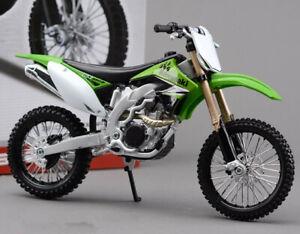 1:12 Kawasaki KX450F Assembly line kit Motorcycle Motocross Bike Model Maisto