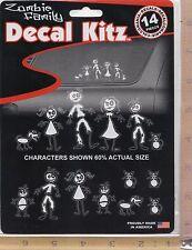 Zombie Family & Pets Vinyl Decal Set Side or Rear Window Sticker Auto Truck 5389