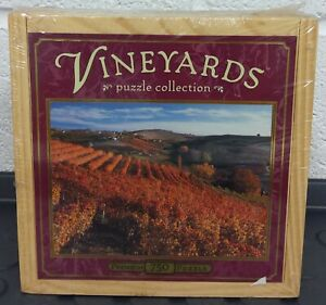 HASBRO VINEYARDS PUZZLE COLLECTION A TASTE OF ITALY - 750 NEW SEALED WOODEN BOX