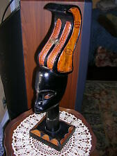 """""""RARE"""" CARVED WOOD SCULPTURE, 20 1/2"""" TALL. NICE DISLPAY ITEM, PICTURES"""