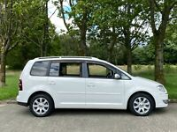 VW Touran TSi Highline 7 seater petrol 1.4 2008 low mileage immaculate example