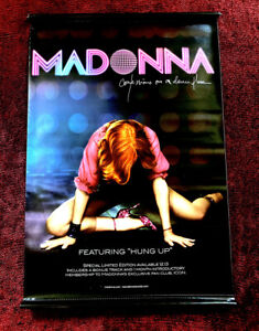 MADONNA BIG CONFESSIONS VINYL PROMO BANNER STORE POSTER HUNG UP MUSIC STORE HANG