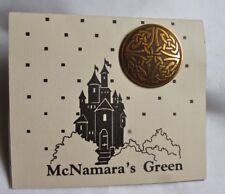 "Brass Celtic pin 1 1/4"" - Made in Ireland - new on card - McNamara's Green"