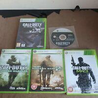 Xbox 360 Call Of Duty Game Bundle x 5 - Modern Warfare 1 2 3 Ghosts World at War