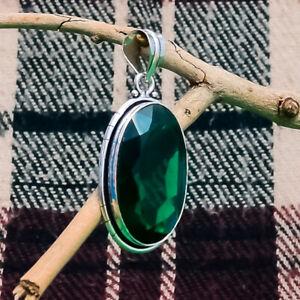 """Lovely Chrome Diopside Gemstone 925 Sterling Silver Handmade Pendant 2.1"""""""