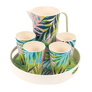 Cambridge COMBO-3151 6-Piece Reusable Dinner Set |4 Cups |1.5 L Jug | Round Tray