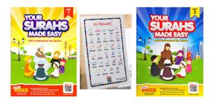 Surahs Made Easy/Rules of Tajweed / Prayer Book/ BookMark,Alpabet, For Kids