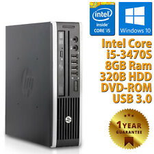 PC MINI COMPUTER DESKTOP RICONDIZIONATO HP QUAD CORE i5-3470S 8GB 320GB WIN 10