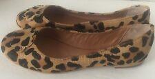 NWOT Dune London Leopard Ballet Flats Shoes Womens 39 EURO 8.5 US
