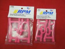 RPM TRAXXAS 2WD SLASH PINK Front + Rear SUSPENSION ARMS 2 pair 1/10 RAPTOR