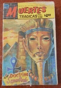 MUERTES TRAGICAS comic AKHENATEN egyptian PHARAOH ancient secrets EGYPT ATENISM