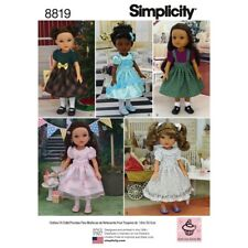 "SEWING PATTERN 14"" DOLL DRESSES! FIT AMERICAN GIRL WELLIEWISHER~HEART FOR HEART"
