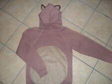 BROWN BEAR HOODIE handmade costume hooded sweatshirt kodiak grizzly cute SMALL