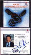 Zubin MEHTA Signiert BERLIOZ Symphonie Fantastique Le carnaval romain CD LPO