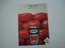 advertising Pubblicità 1971 POMODORI PELATI CIRIO
