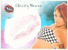 "CHRISTY HEMME ""KISS CARD"" BENCHWARMER 2007 SERIES 1 WWE DIVA TNA KNOCKOUT"