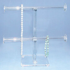 2 Tier Clear Stand Necklace Display Acrylic Bracelet Display Cheap Display