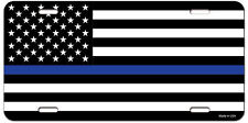 Thin Blue Line Police Lives Matter American Flag Metal Novelty License Plate NEW
