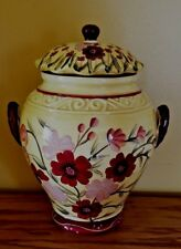 ACK Casa Vero • Hand Painted Decor Floral Design • Canister ~GORGEOUS~ with box