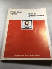 Detroit Series 53 Engines Operators Manual
