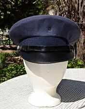 WWII US Army Air Force Blue Visor Bombardier's Hat/ 100% Wool/ Size 7 1/8