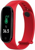 M4 Pro Android IOS SmartwatchSportuhr Armband Fitness Tracker Rot Watch
