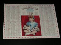 Calendar Ptt - 1954 - Little Girl and Kittens Siamese - Specimen of