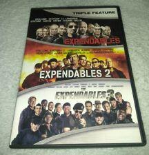 The Expendables 1 2 & 3 DVD Sylvester Stallone Arnold Schwarzenegger