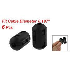 6 Pcs Clip On EMI RFI Noise Ferrite Core Filter for 5mm Cable BTSZUK