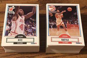 1990-91 Fleer NBA Basketball 198 Card Set Michael Jordan Bird Magic Barkley