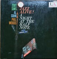 Jazz Alive! A Night At The Half Note Sims,Cohn, Woods LP UA promo edition 1959