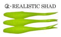 Realistic Shad Gudgeon split tail 12cm x3, Predator Tackle, Zander,Pike,Perch