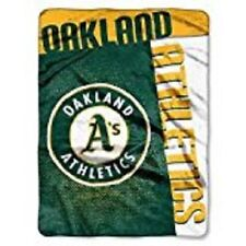 """Oakland A's Plush 60"""" by 80"""" Twin Size Blanket - MLB"""