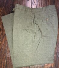 Lands And Traditional Fit Green Dress Pants Men's 35W X 30L