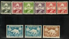 Greenland #1-9 Complete set 1938-46 Mnh/Mh(6,9)