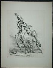 A. PAUL WEBER, Original Lithographie 1956, signiert, Auf's andere Pferd