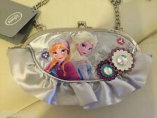 Disney Store Exclusive Frozen Elsa y Anna Plata Nuevo Bolso De Mano ** Aspecto **