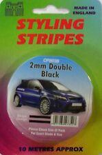Black 2mm X 10mtr Twin Self Adhesive Car Pin Stripe Coach Tape Styling Stripe