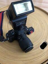 PENTAX P30N Vintage Camera 📸 HOYA 🇯🇵 Lens & Vivitar 283 Flash Vintage Strap🎭