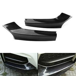Pair Real Carbon Fiber Front Bumper Splitter Trim Kit for BMW M235i Coupe 14-18