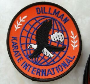 """Dillman Karate International Patch, 4"""" Red Sewing Patch Lot of 4."""