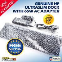 HP UltraSlim Notebook Docking Station EliteBook Folio 9470m 1040 G1 +65W Adapter