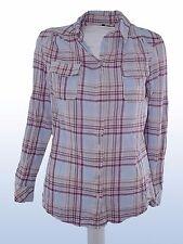 camicia donna quadri azzurro BENETTON tg S SMALL