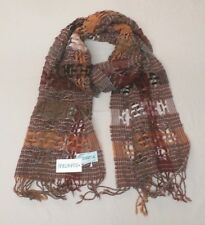 Suantrai of Ireland Women's Cable Knit Scarf Brown Rust GG8 One Size NWT