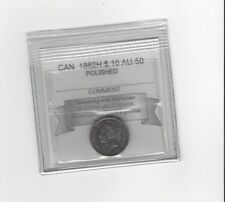 **1882H**, Coin Mart  Graded Canadian,  10  Cent, **AU-50**