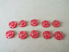 10PCS Bright Pink Bow 2 agujero flatback Botones 13MM X 9MM-Coser Tejer