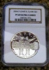 2004 P LEWIS AND CLARK PF69 ULTRA CAMEO SILVER DOLLAR NGC